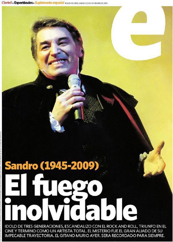No es photoshop: hacé click para ver el suplemento con el que Clarín despidió a Sandro.