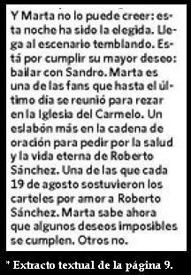 Extracto de una nota de Clarín sobre la muerte de Sandro.