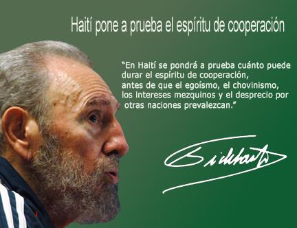 Fidel sobre Haití