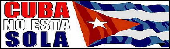 Con Cuba socialista, todo el mundo está.