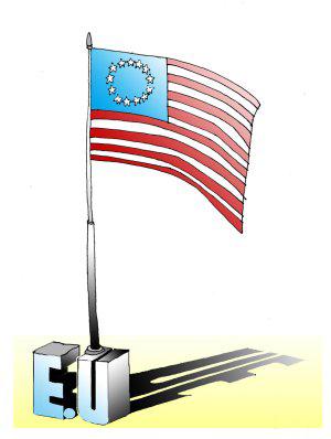 La Unión Europea está compuesta por estados unidos.