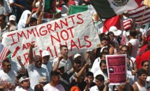 Inmigrantes, no criminales.
