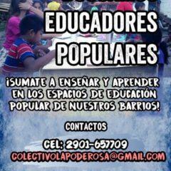 En busca de educadores y educadoras populares